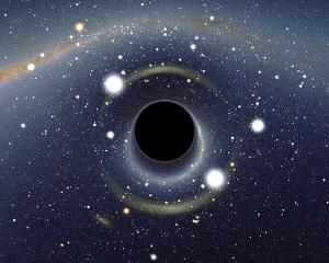 Image simulée d'un trou noir