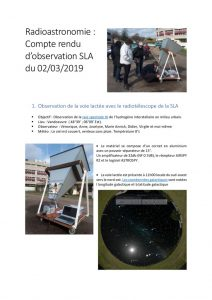 thumbnail of CR Observation HI le 02 03 2019