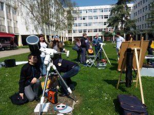 Observation du Soleil à la Fac de Lettres
