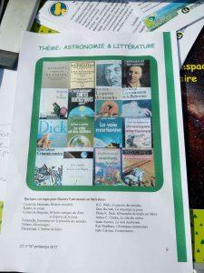 Quelques livres pour illustrer l'astronomie en littérature