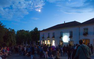 Projection du ciel commentée à la nuit des étoiles 2017 à la colline de Sion