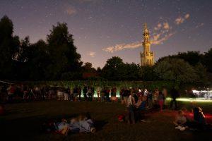 Observation nocturne lors de la Nuit des étoiles en 2017 à la colline de Sion