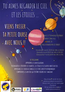 Affiche stage Petite Ourse avril 2019