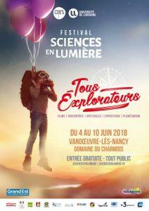 Affiche Sciences en lumière 2018