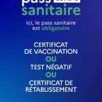 Affiche pass sanitaire obligatoire