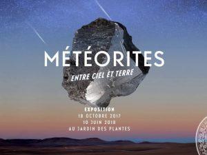 Affiche de l'exposition Météorites