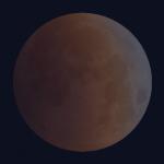 Eclipse de Lune : début de la totalité