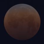 Eclipse de Lune : fin de la totalité