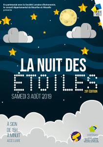 Affiche Nuit des étoiles 2019